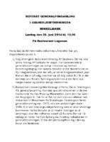 Referat generalforsamling 2014